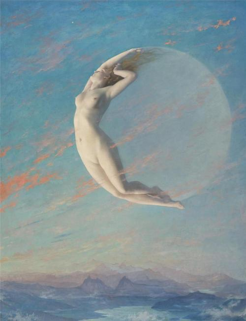 Selene by Albert Aublet (1880)