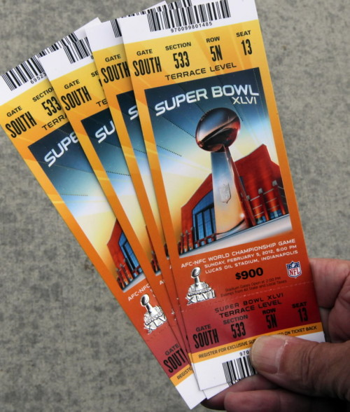 boston:  Behold: Super Bowl XLVI tickets. (Globe photo)  One day…