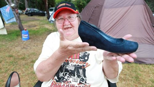 Australian Prime Minister Julia Gillard lost her shoe (reportedly a Size 36, Midas Glorify) in an Australia Day protest in Canberra yesterday. Inanity has ensued. The shoe is allegedly being held hostage and/or being sold to the highest bidder on eBay at press time. We'll keep you updated on this most fascinating international question: Will the Prime Minister of Australia get her shoe back?