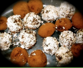 Chocolate Cacao Balls Cacao Recipes Ingredients: 1 cup almonds 1/2 cup raw cacao powder 2 tablespoons pine nuts 1 cup shredded coconut 1/2 cup date honey or agave nectar Method: Place the almonds in a food processor and process until the almonds are finely chopped. Next, add the carob or cacao powder, pine nuts, and shredded coconut and process quickly to mix it all together well. Then, while the processor is running, pour the liquid ingredients in and allow to form a thick dough. Roll into balls, roll the balls in shredded coconut, ground almonds or some more chocolate powder. Place into the freezer to set for an hour or two. Enjoy! Makes between 20 and 30 chocolate balls.