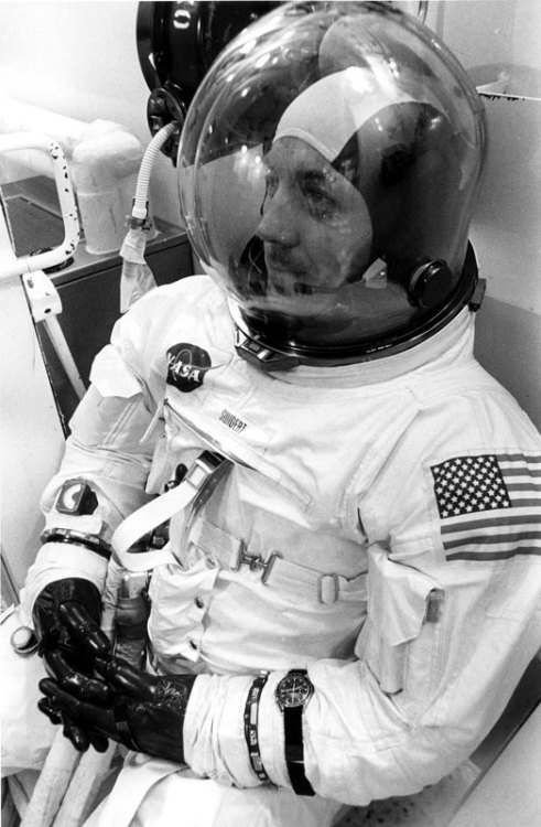 Preflight suit up, April 11 1970,