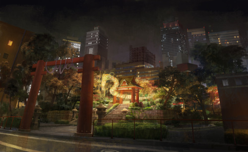 A dragon in a inner city Asian park (via dragon in the park by ~molybdenumgp03 on deviantART)