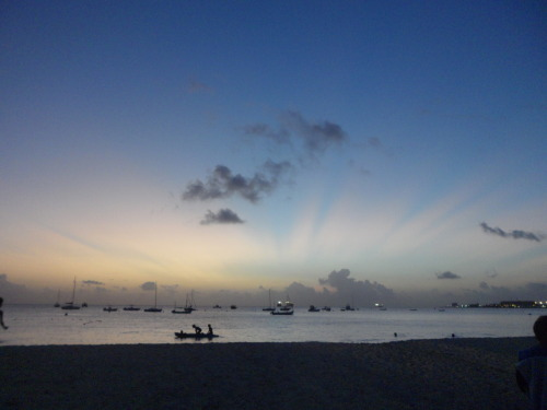 k-auwahi:  the most beautiful sunset ive ever seen, barbados 2011<3