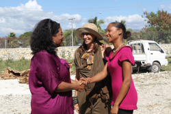Oprah Winfrey visits Haiti two years after the devastating earthquake and meets with Donna Karan to discuss positive changes in the country.