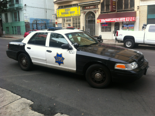 david:  San Francisco has the most busted looking police cars    sexpigeon:  The NYPD's cars are not sophisticated and not rough-and-tumble. They are the saddest possible thing: dull, dim-witted, and in no way representative of their city, a great city, a city that is not dull or dim.    Dull and dim sounds about right for Dublin. Let's trade.