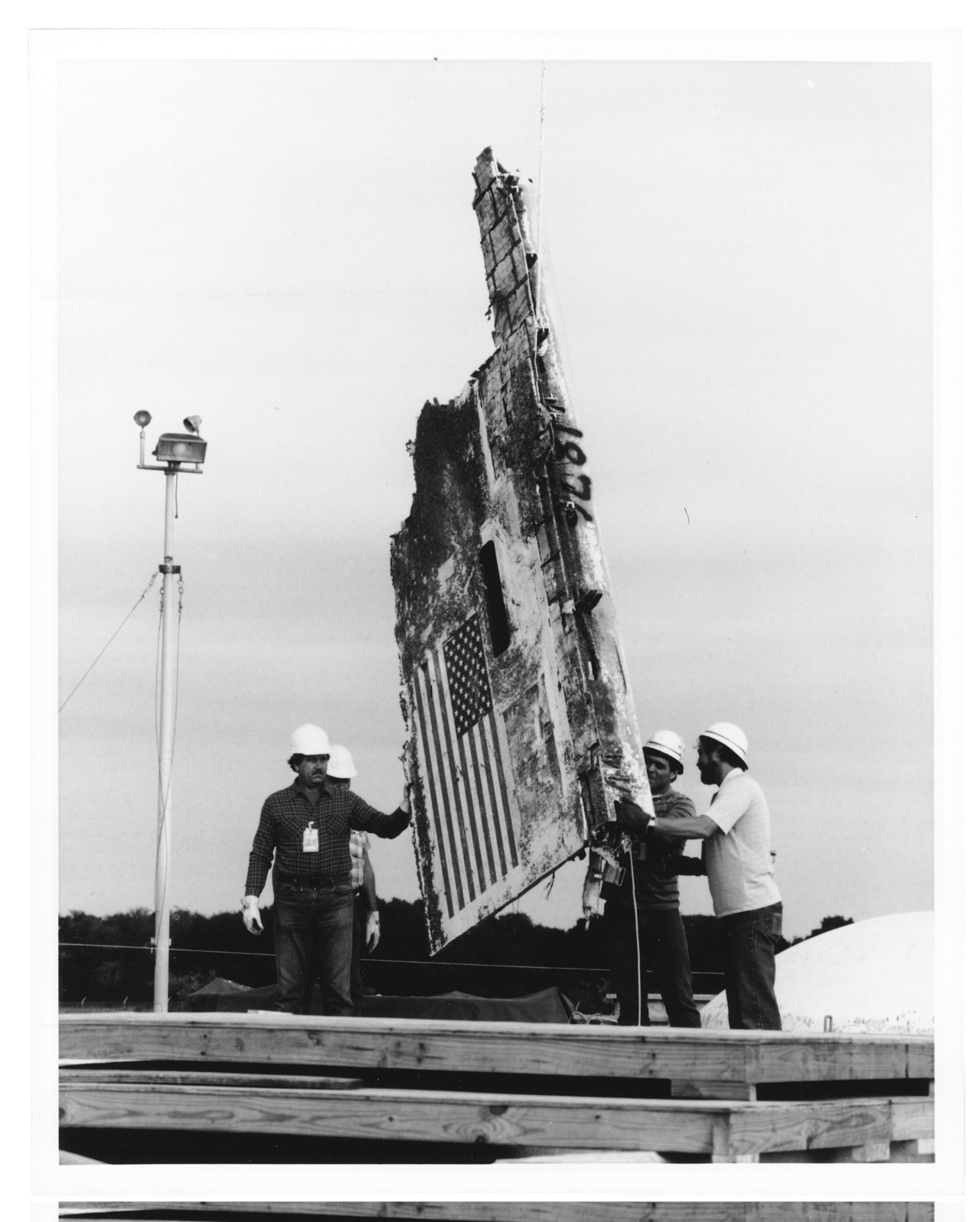 Challenger's resting place On January 28, 1986, at 11:30, A.M. just one minute after lift off, the Space Shuttle Challenger and its crew were destroyed in an explosion. After pieces of the Challenger were examined, they were lowered into their permanent storage area in the Minuteman missile silo at Cape Canaveral Air Force Station, Florida.