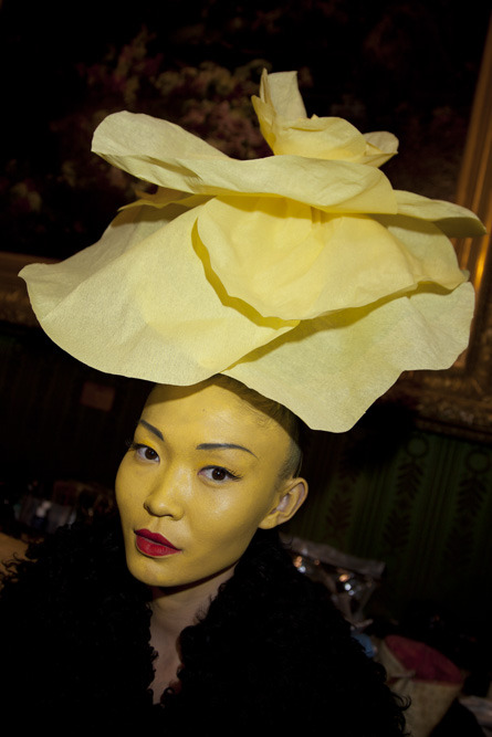 Spring sprung early with this daffodil of a beauty at Alexis Mabille's Couture show in Paris.