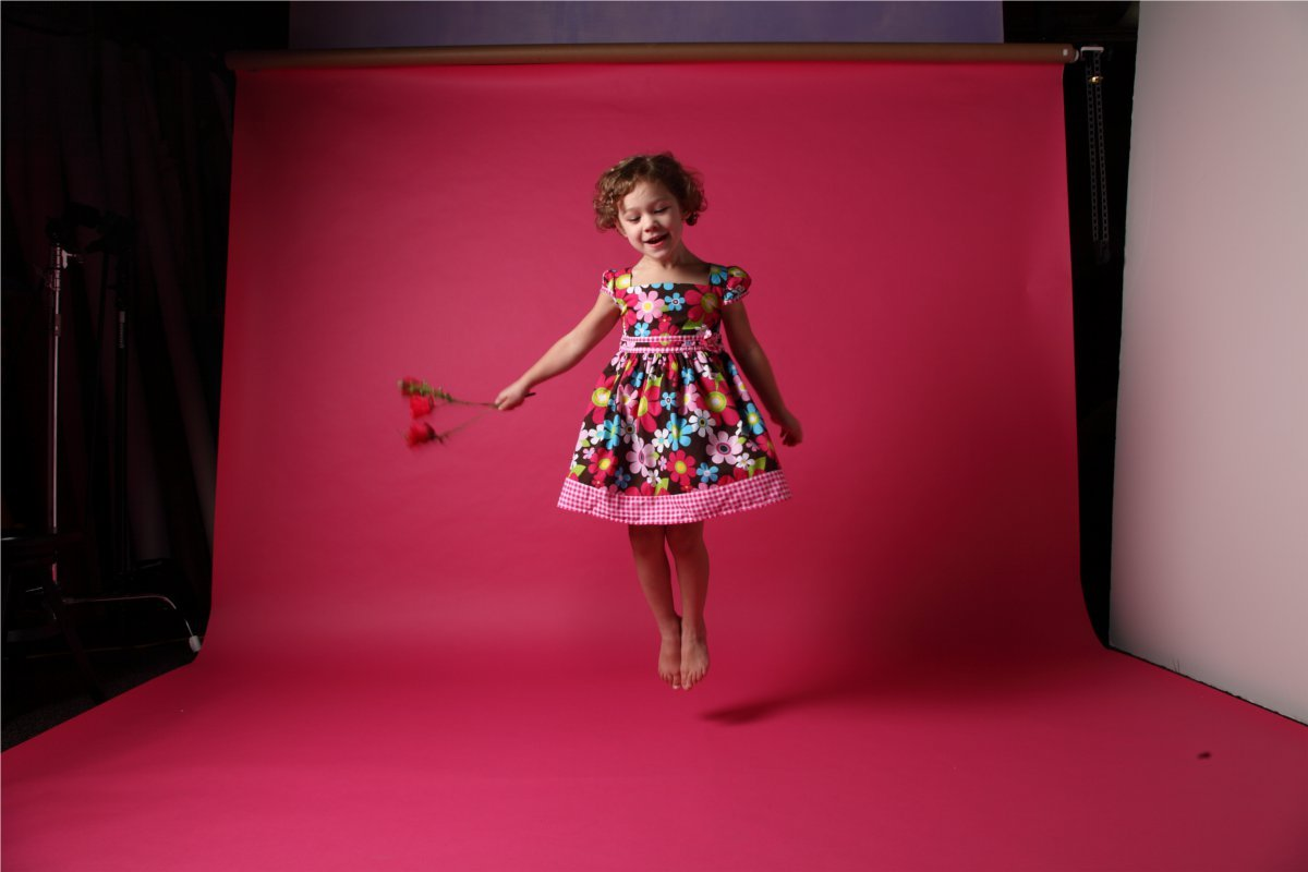 "adayatthezu:  Jumping for joy, this darling model for zulily's Swirl & Twirl Collection is sweet as can be!  Check out ""a day at the zu"" for behind-the-scenes cuteness!"