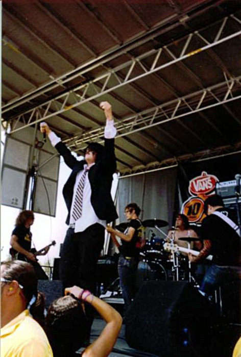 My Chemical Romance on the 2004 Vans Warped Tour