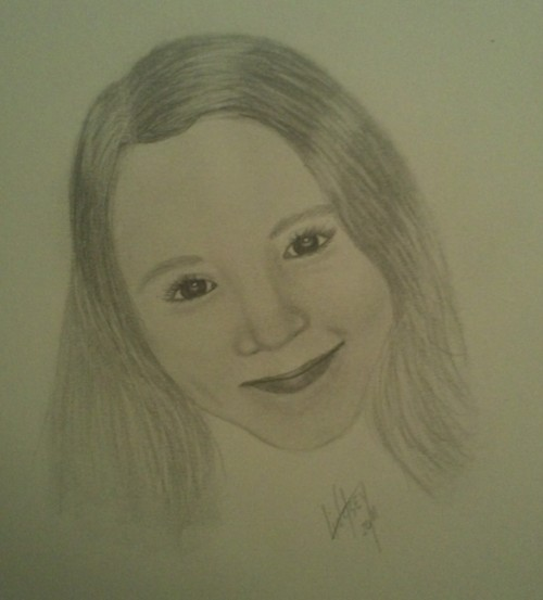 Miss kitkat, portrait in pencil, not my best, I was rushing it. :/