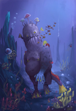 Underwater Giant by ~ALMAGOR —- x —- [Random Creature at CfD]