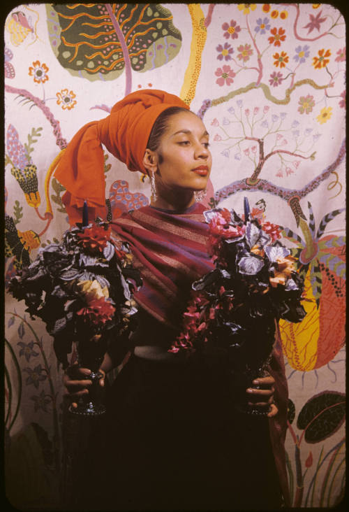 sweethotdrift:  Carmen De Lavallade by Carl Van Vechten color kodachrome slide 1955