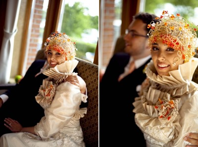 hijabonita:  Interesting bridal-wear.