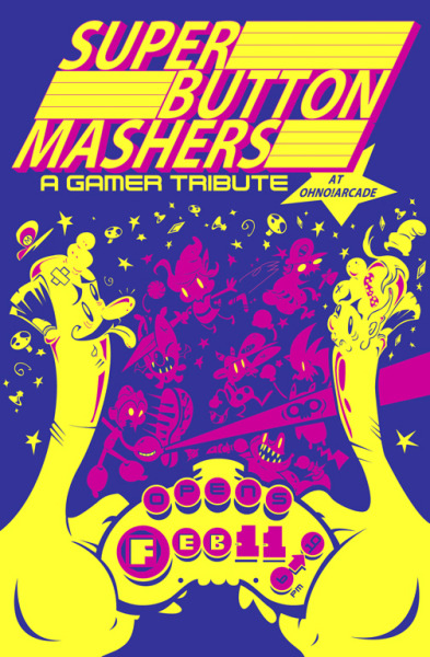 it8bit:  Super Button Mashers A Gamer Tribute at OhNo!ARCADE Feb 11th Saturday 6-10pm1800 N. Milwaukee Ave Chicago Il 60647 Click here for a list of contributing artists! (via: ohnodoomcollective)