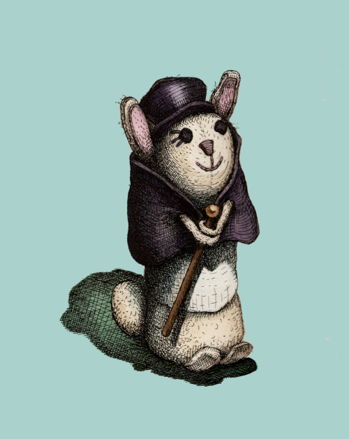 """Dapper Bunny"", from my vintage toy collection. by me, hoddleypoddley"