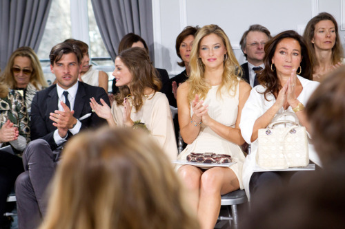 Front row at Christian Dior, Haute Couture Spring/Summer 2012. Ph: Kevin Tachman