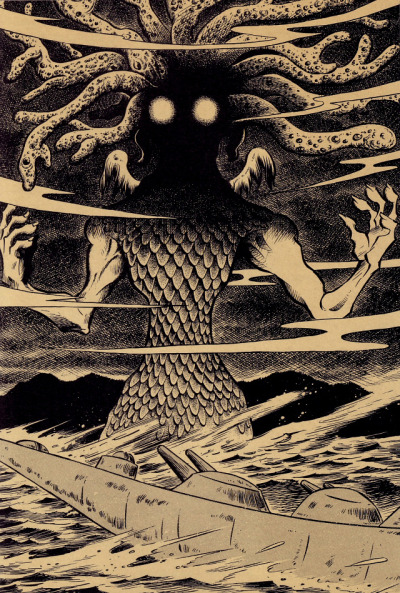 The Call of Cthulhu - H.P. Lovecraft, 1926 -Gothic horror illustrations by Tatsuya Morino