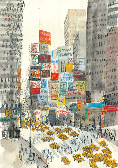 Clare Caulfield, Times Square, New York.