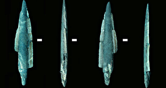 Archaeologists discover sophisticated fish traps dating back 7,500 years.  In addition, a variety of other artifacts including spoons, tools, and hunting weapons were found. The study suggests that the ancient people living in this area near Moscow were productive all year and not just seasonally. (via More than 7,500-year-old fish traps found in Russia)