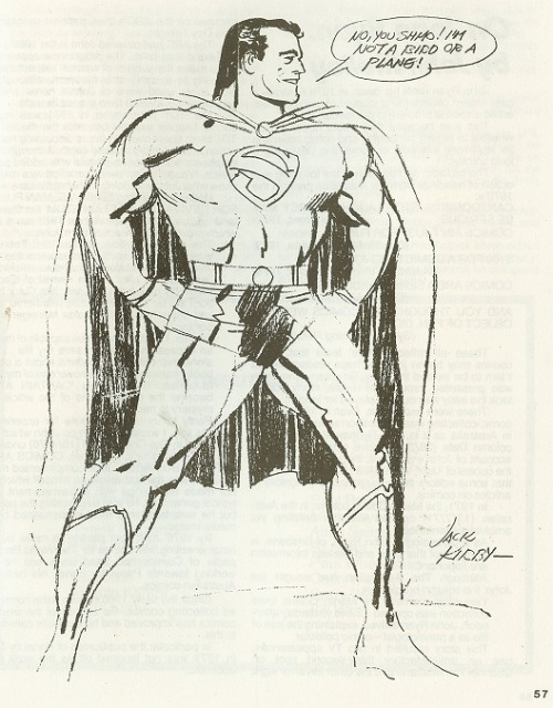 bigredrobot:  f***yeahkirby:  Jack Kirby sketch for Sydney Comicon III (1981))  Jimmy Olsen's pal.