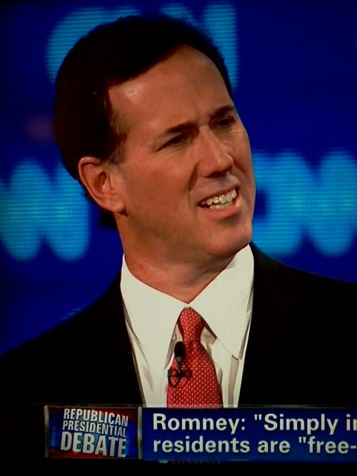 inothernews:  Looks like Rick Santorum Googled Santorum.