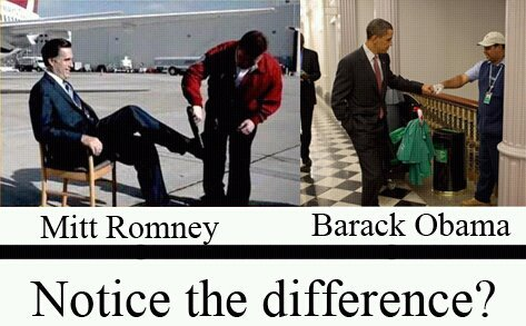 Why yes I do see the difference. One man is stimulating the economy by patronizing a self employed individual and the other man is attempting to act cool by bro-fisting.