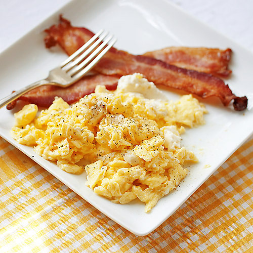 Scrambled Eggs with Ricotta cheese