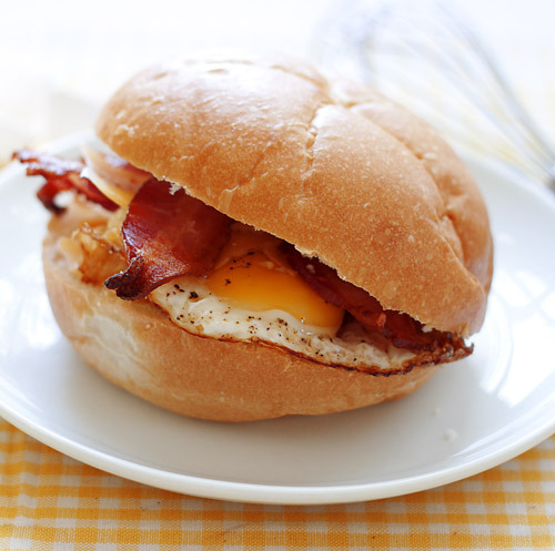 Bacon Egg and Cheese on a Kaiser Roll