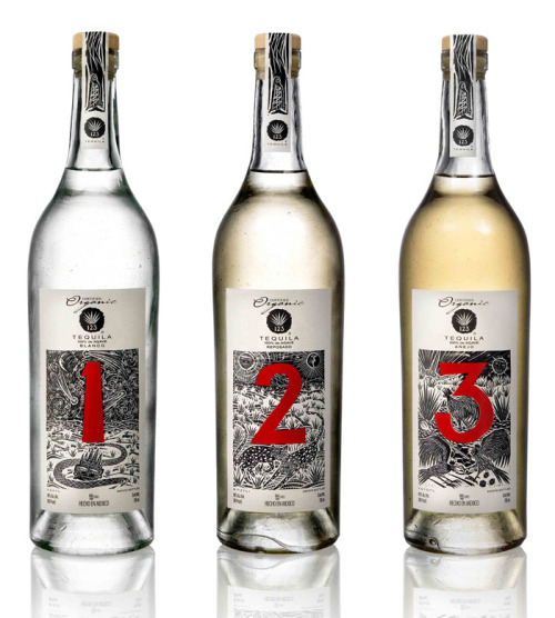 numberoftheday:  123 Organic Tequila Design by David Ravandi [via the dieline]