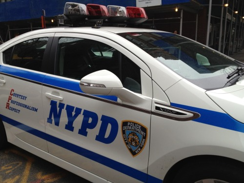 An NYPD Volt. Loving the fact that they made it a point to highlight the brand.