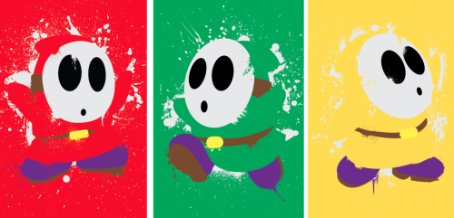 Hey look!  Shy Guys!  These 3 mask-wearing introverts are available as a mini-print set over at Etsy, each print is signed and numbered (a limited run of 25).  Would probably make a great Valentine's Day gift to or from Shy Gamers! Shy Guy Mini Print 3-Pack, $9.00 at Etsy.