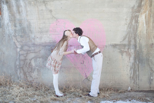 cute engagement shoot idea