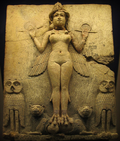Ishtar by seriykotik1970 on Flickr.Also known as Astaroth-the Queen of the Night.With goddesses like her around you wonder why the Ancient Israelites worshipped golden calves! Old Babylonian -about 1700 BC  Again- from the British Museum