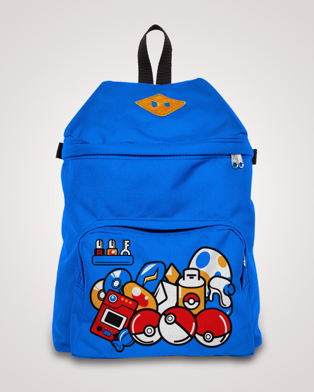 My entry to the contest threadless loves backpacks, ¿Can you recognize all the items? Also you can vote here http://www.threadless.com/submission/396859/Pokeback/showmore,designs  to get it printed