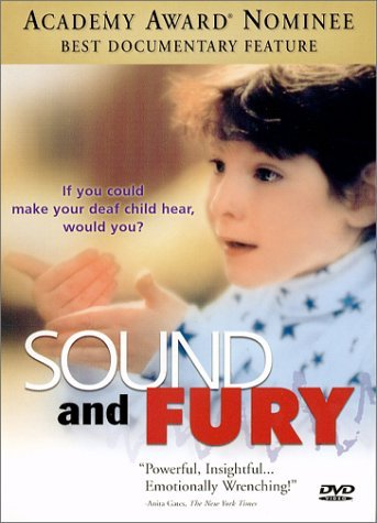 If you've never seen Sound and Fury, I strongly encourage you to watch it sometime. It's only 80 minutes, and it's very eye-opening (or maybe I just think so because I'm in college to become an interpreter for the Deaf). It might change your perspective (if you have one) regarding the Deaf community. Hope you get a chance to watch it someday! (It's streaming on Netflix!)