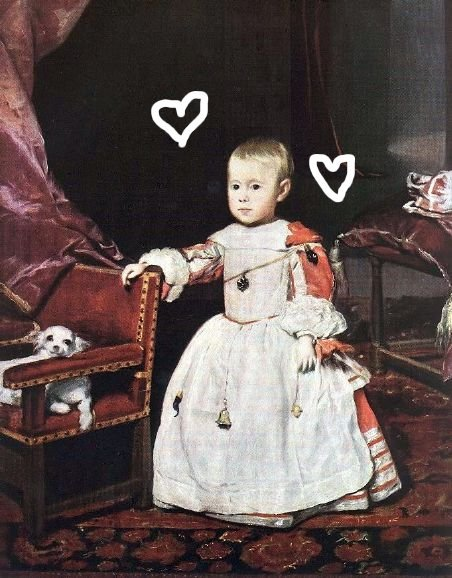 creepy baby with hearts