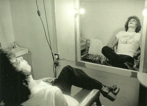 suicideblonde:  Tim Curry during the filming of Rocky Horror