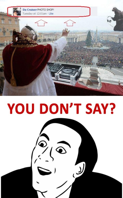 Pope is not a DJ!!! [follow my blog for more funny shit]