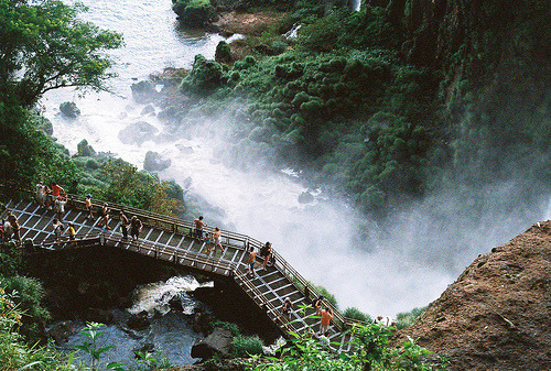 ancient-horse:  Bridges at Iguazu (by Walk Robins)