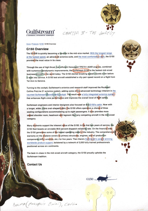 The Death of Cattelan, Chapter 4, Mixed media on paper, 2011