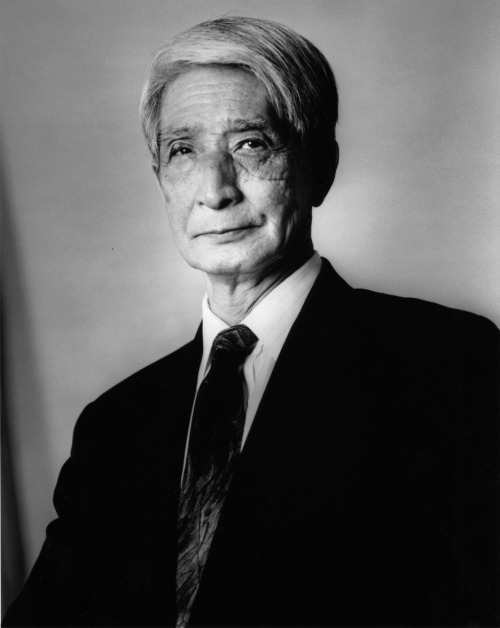 Portrait of the late Sensei Hidetaka Nishiyama.