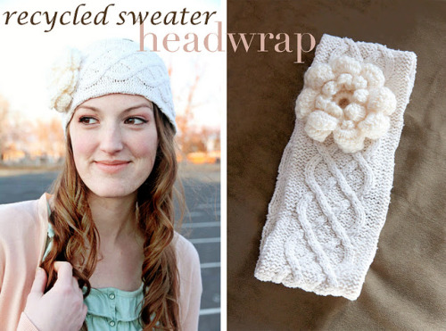 crafty-licious:  ~Ruffles And Stuff~: Recycled Sweater Headwrap Tutorial!