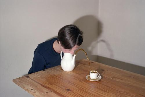 Interesting way to pour tea!