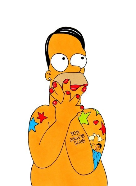 Homer Simpson as Marc Jacobs.