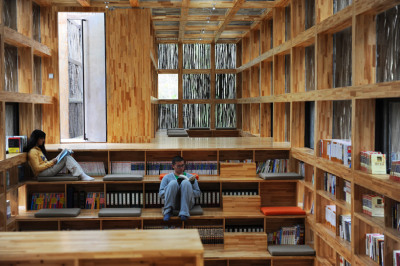 bookshelfporn:  'Liyuan Library' by Li Xiaodong Atelier, Cuairou, China via kaitgoo