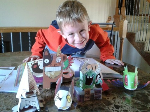 "We can't say it better than this! ""This 5 year old loves his paper toy monsters.  Keep the books coming. =)"" Thanks Shannon!"