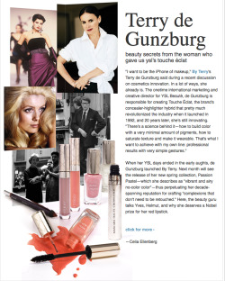 "By Terry's Terry de Gunzburg talks YSL, Touche Éclat, and the advent of ""haute couleur."""