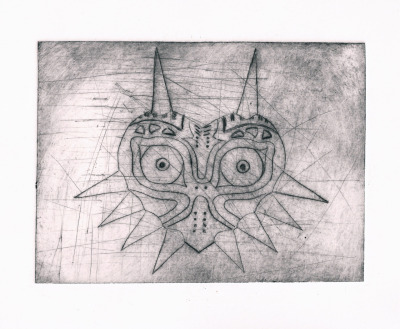 taxistapuchy:  Majoras Mask engraving by Taxistapuchy