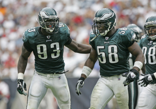Jevon Kearse Trent Cole Eagles
