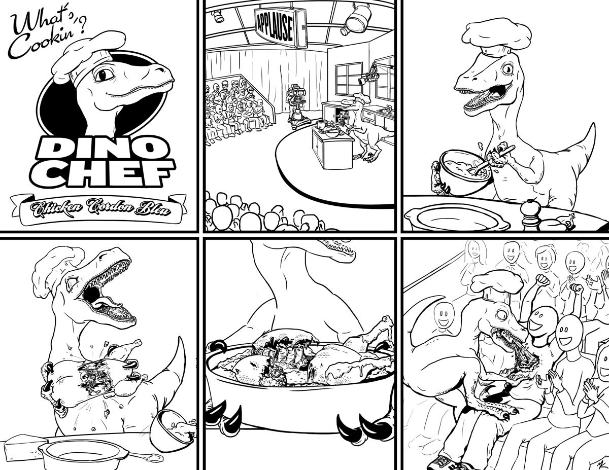 Dino Chef: Episode 1 Written by Paul Blinov, Art by me